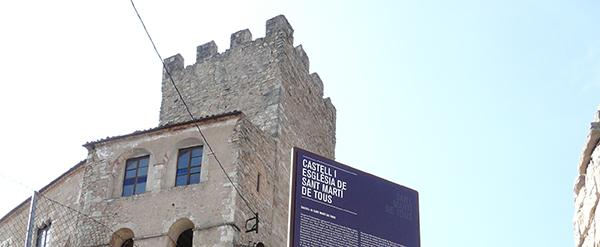 Señalización turística en Sant Martí de Tous